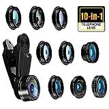 Bamoer 10 in 1 Handy Objektiv Set,Handy Kamera Objektiv Set, Fisheye,Weitwinkelobjektiv, Makro,Teleobjektiv, Kaleidoskop 3/6 Objektiv,CPL/Flow/Star/Radial Filter,für und die meisten Smartphones