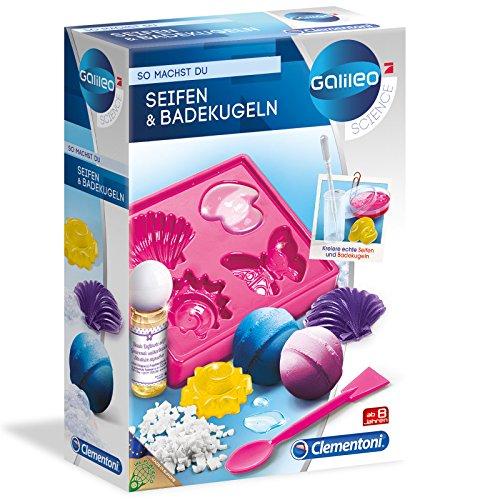 Galileo Seifen und Badekugeln - Ein Labor für Herstellung von Seife • Kosmetik Bedekugeln Experimentierkasten Kinder Parfüm