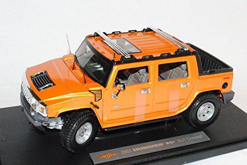 hummer-h2-h-2-sut-2001-pick-up-pritsche-gelb-orange-36633-1-18-maisto-modellauto-modell-auto