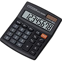 Citizen SDC-805BN - Calculadora (Escritorio, Basic calculator, Negro, Botones, Batería, CR2032)