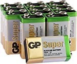 9V Super Alkaline Batteries by GP | Super operating time | Battery Can Be Used Across All Devices from GP Batteries