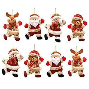 Navidad Decoración Colgante,LLMZ 8 Pcs