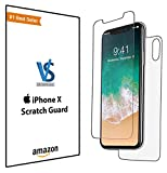 #5: Apple I Phone X 10 Ten Smart Touch Screen Scratch Guard Glass Protector Case Friendly High Quality Front & Back Flexible Tempered Full Body Mobile Protection with Installation Kit - 0.33 MM
