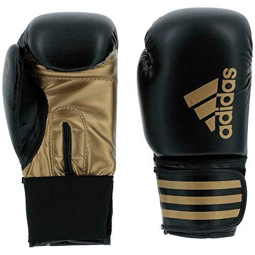 adidas Herren Hybrid 50 Boxhandschuhe, schwarz/Gold, 12 oz