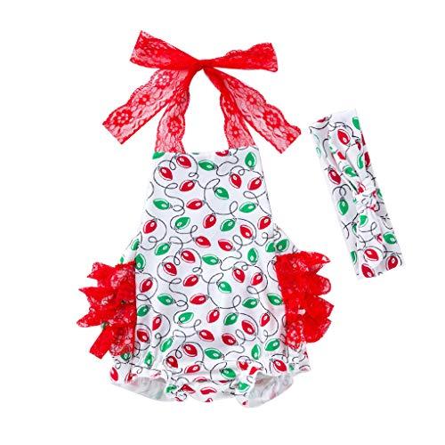 Beaums 2ST Infant Baby-Spielanzug-Kleid Halter Bodysuit Foto Props Backless