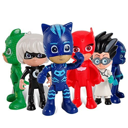 New 6 Pieces PJ Masks Moving Hands and Legs Figures For Kids - Neue 6 Stück PJ Masks Umzug Hände und Beine Figuren Für Kinder (Eine Bein Lampe Kostüm)