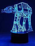 Originelle 3D LED-Lampe AT-AT Walker Kampfläufer Tischlampe Wohnlicht Nachtlicht