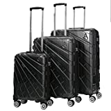 Aerolite Suitcase, 73 cm, 116 Liters, Black