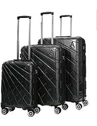 Aerolite Maleta, BLACK PCF115 (Negro) - PCF115 BLACK 3 PCS SET 21/25/29 Vendor