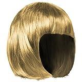 Shenky - Parrucca donna - ideale per Carnevale - taglio corto/bob - Bionda