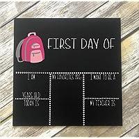 Merle11Eleanor First Day of School Chalk Board. Reusable Sign. 1st Day of School. Back to School Chalkboard Backpack Chalkboard