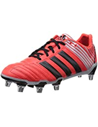 adidas Kakari Light AG–Chaussures de Rugby pour Homme, Noir–(negbas/Ftwbla/rojbas) 48