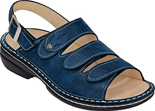 Finn Comfort Womens Saloniki 2557 Leather Sandals Blau