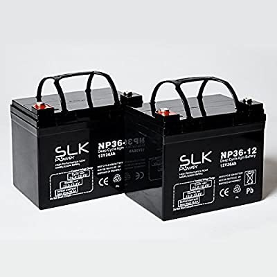 Pair of 12v 36ah Mobility Scooter Batteries