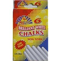 Playwrite Brilliant White Chalks 6 Pack