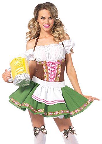 Leg Avenue Gretchen Kostüm 2-teilig, Mehrfarbig, Gr. S