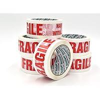 Nastro D'imballaggio Fragile Da NOVOTAPE 48 mm x 66 m | 6 Convenienti & Facili Per Rivolgersi di Rotoli Per Sigillo Forte, Sicuro & Appiccicoso Per Pacchetti & Scatole