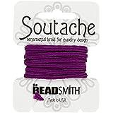 Beadsmith Soutache - Cordón de poliéster, 3 mm, 2,7 m, color magenta