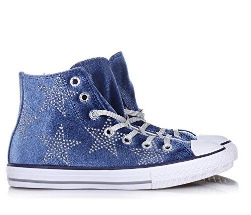chaussures CONVERSE fille bleu marine gray gray 658882C all star lacets mi Bleu