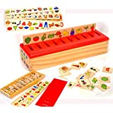 Toys of Wood Oxford Boîte de tri en Bois pour bébé - Jouets éducatifs Montessori - Jeu d'apprentissage pour Les Chiffres Les