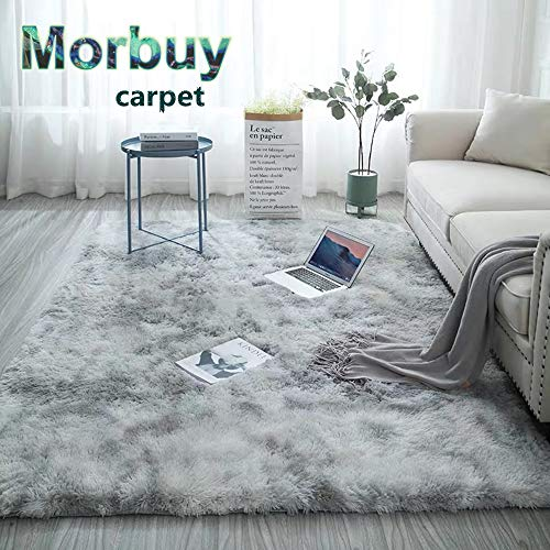 Alfombra Shaggy Pelo Largo, Morbuy Elegante Mullida Brillante Super Suave Interior Moderno Lavado Sedoso...