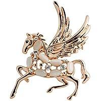 Yc il cavallo, a forma di angelo con opale e Zirconia cubica, a forma di spilla