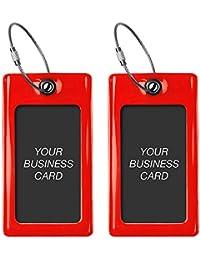 Étiquette Bagage/Valise / Voyage TUFFTAAG - Tag en PVC pour Carte de Visite - Flexible et Résistant - Disponible en 8 Couleurs