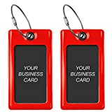 Luggage Tags TUFFTAAG for Business Cards, Flexible Suitcase Labels, Travel Gif