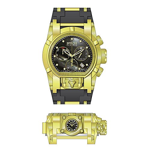 Invicta Men's Reserve Polyurethane Band Steel Case Swiss Quartz Watch 26713