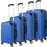 KESSER 4tlg. Hartschalenkofferset Hard Shell Basic Hartschalenkoffer Trolley Koffer Reisekoffer...