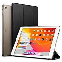 ESR Case for iPad 7th Generation 10.2-Inch, Trifold Stand Smart Case, Auto Sleep/Wake Lightweight Case, Hard Back Cover, Black