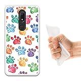 WoowCase Wiko View Prime Hülle, Handyhülle Silikon für [ Wiko View Prime ] H& Fußabdruck Handytasche Handy Cover Case Schutzhülle Flexible TPU - Transparent
