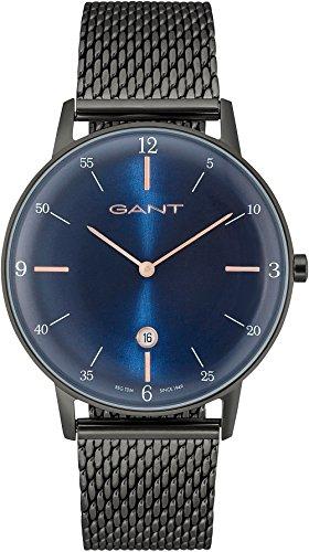 GANT Herren-Armbanduhr Analog Quarz One Size, blau, grau (Uhren Für Herren Gant)