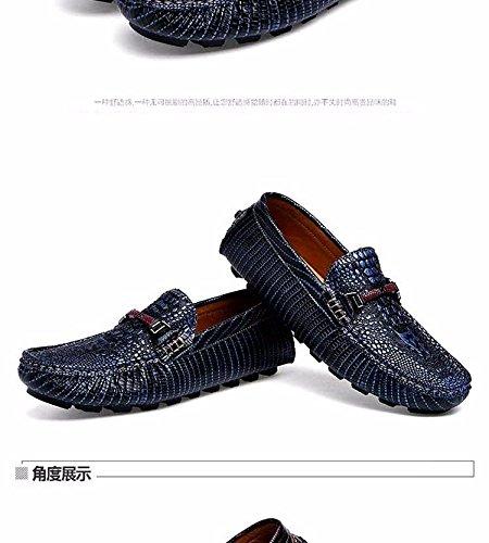 Crocodile, De Chaussures, Foot Kick Entreprise Chaussures, Faible Chaussure, Cuir Feignant De Chaussures Navy Blue