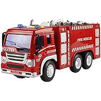 Kinder Spielzeug Musik Light Lift Truck, mamum Fire Rescue Truck mit Crane Toys Reibung powered Fahrzeug mit Licht und Musik Einheitsgröße B