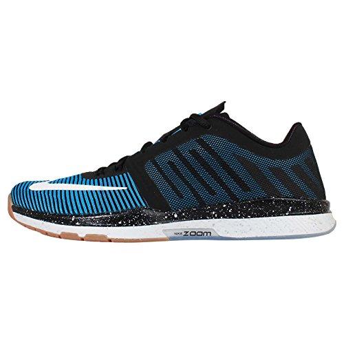 Nike Zoom Speed TR3 Scarpe Da Pallamano, Uomo Negro / Azul / Blanco / Rojo (Black / Blue Lagoon-Black)