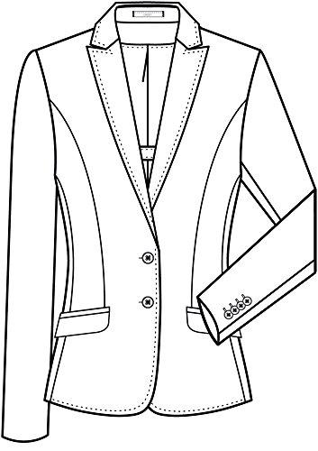 Damen-Blazer regular Fit,modern with 37,5, slim fit, 1424 Dunkelblau