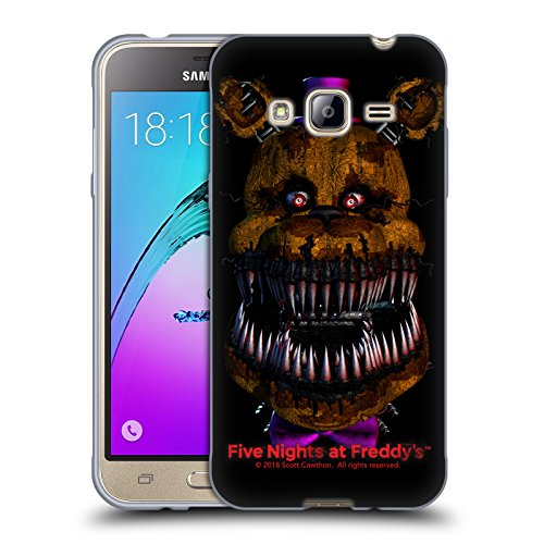 Official Five Nights At Freddy's Nightmare Fredbear Game 4 Soft Gel Case for Samsung Galaxy J3