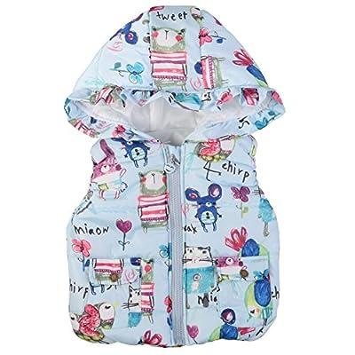 Brightup Girls Coats Jackets Gilets, Little Girls Vest Coat Kids Graffiti Print Hooded Waistcoat : everything 5 pounds (or less!)