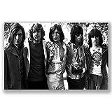 Box Prints Die Rolling Stones ikonischen Retro Vintage Print Musik Legende Poster schwarz weiß gerahmte Kunst Bild groß klein