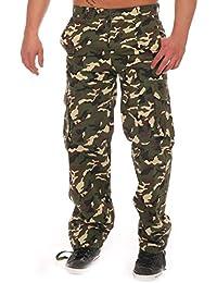 Finchman Herren Cargo Hose Freizeithose Regular Fit Mehrfarbig Army Militär