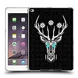 Head Case Designs Offizielle Chobopop Hirsch in Silber Tiere Soft Gel Hülle für Apple iPad Air 2