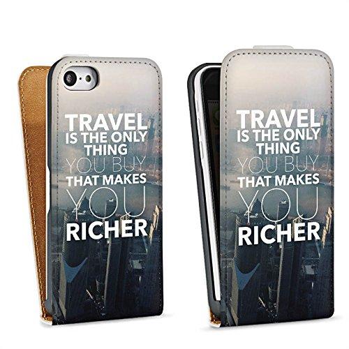 Apple iPhone X Silikon Hülle Case Schutzhülle Sprüche Reisen Stadt Downflip Tasche weiß