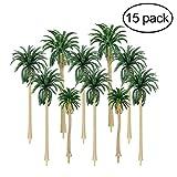 #6: Vosarea 15pcs Scenery Model Coconut Palm Trees HO O N Z Scale