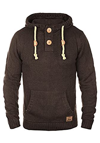 SOLID Pit - Pull en Maille- Homme, taille:XL;couleur:Coffee Bean Melange (8973)