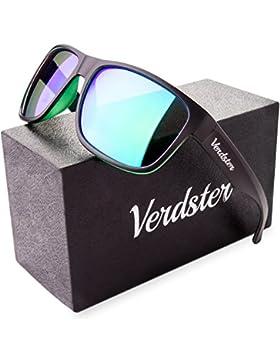 Gafas de sol Wayfarer POLARIZADAS VERDSTER TourDePro Para Hombres y Mujeres - Montura Cómoda con Protección UV...