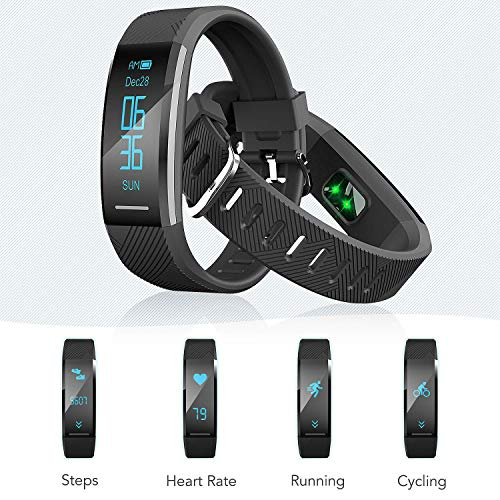 Zoom IMG-2 agptek fitness tracker braccialetto bluetooth