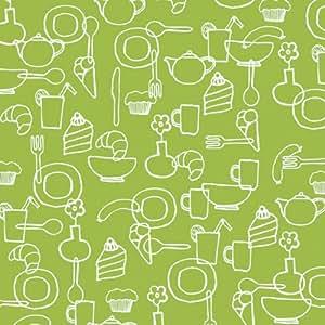 Serviettes de table en papier avec motif de guitare 3 couches-tabletop ligne community l (vert x l) :  33 x 33 cm. st 250 cm