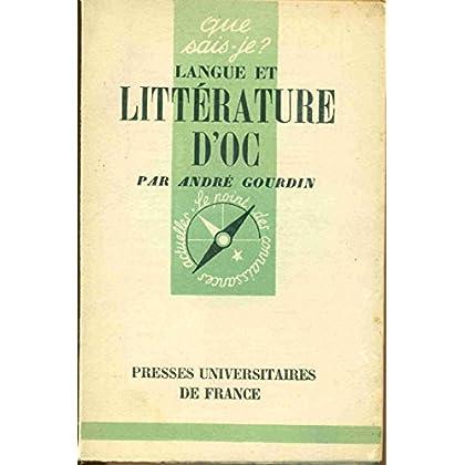 Langue et littérature d'Oc