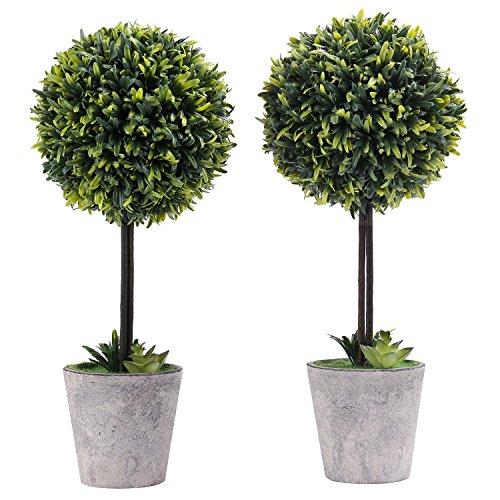 uchsbaum Topiary Baum in Modernem Grau Pulp Übertopf, Set von 2 ()